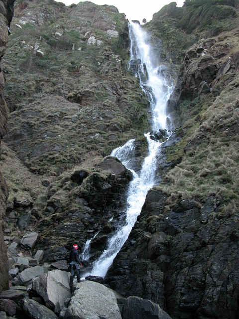 Hollowbrook Waterfall. Exmoor