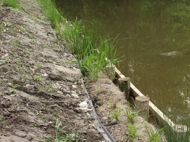 Bank protection on the Llangollen Canal