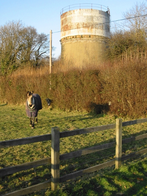 Disused water tower on Singledge Road
