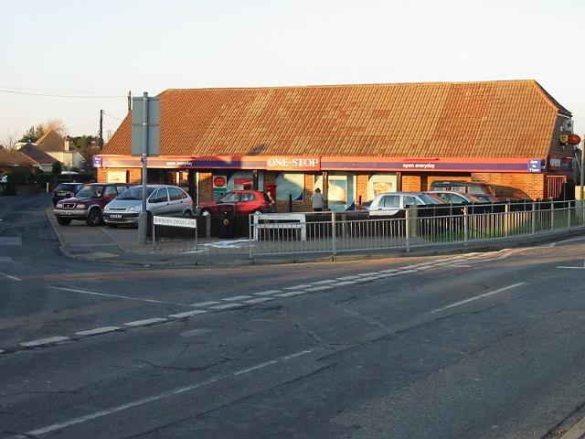 Village shop on junction of Bewsbury Cross Lane and Sandwich Road