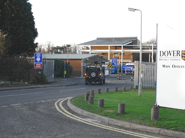 Entrance to council refuse collection and recycling centre
