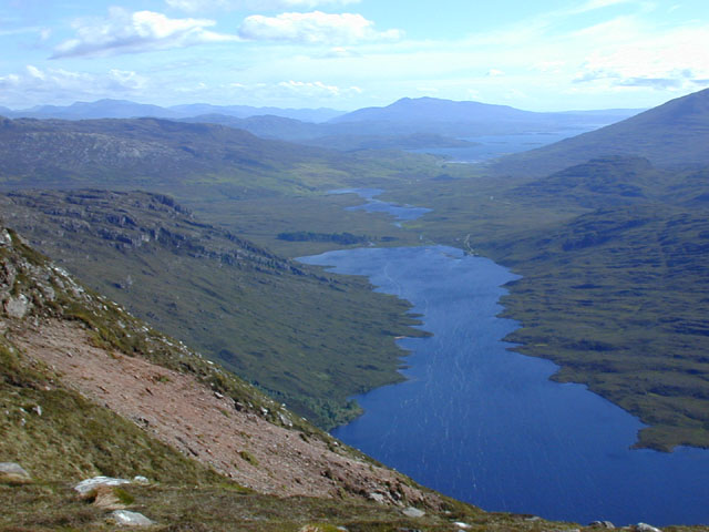 View south southwest from the col on Beinn Damh