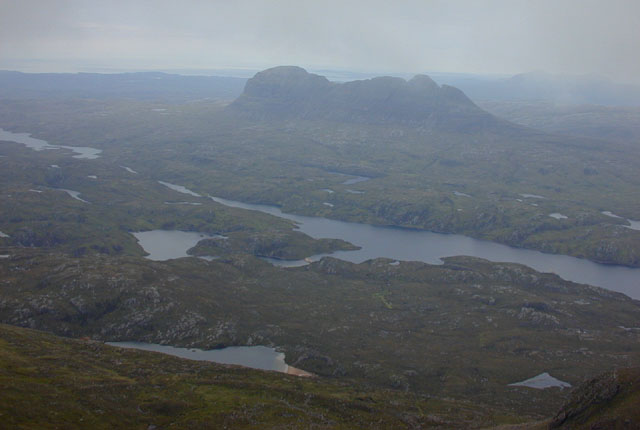 View north from Cul Mor