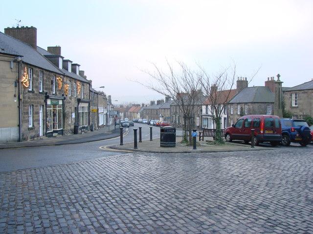 High Street, the B1342, Belford