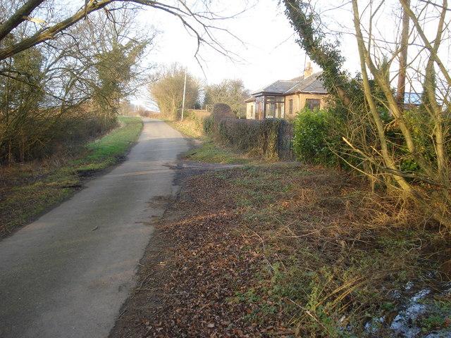 Lane near Guarlford