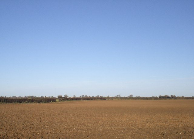 North across fresh plough