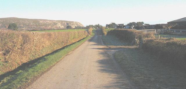 The Castellmarch farm road