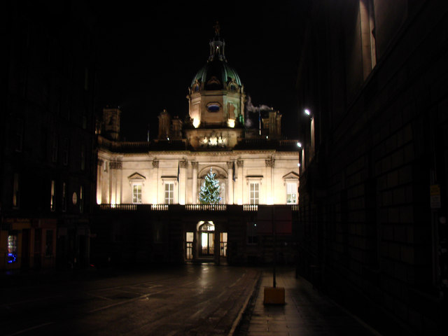 The Bank of Scotland, Bank Street, by night