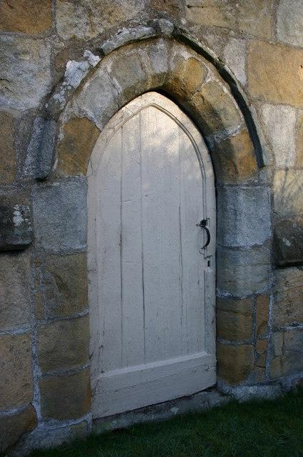 Doorway, Kirkby Malham church