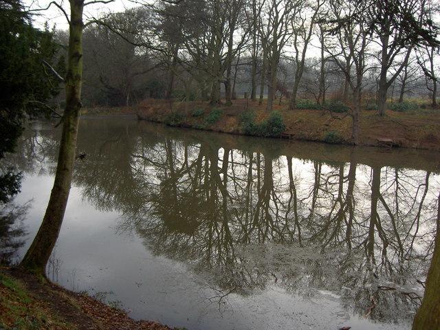 Lake in Arrowe Park