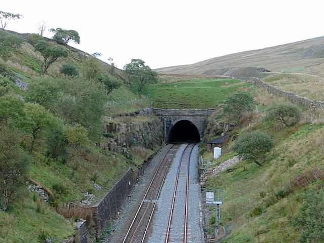The southern portal of Blea Moor tunnel