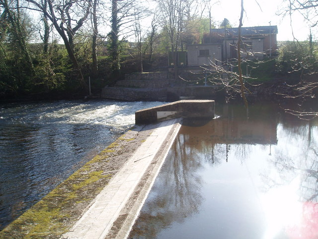 Weir on the river Dee