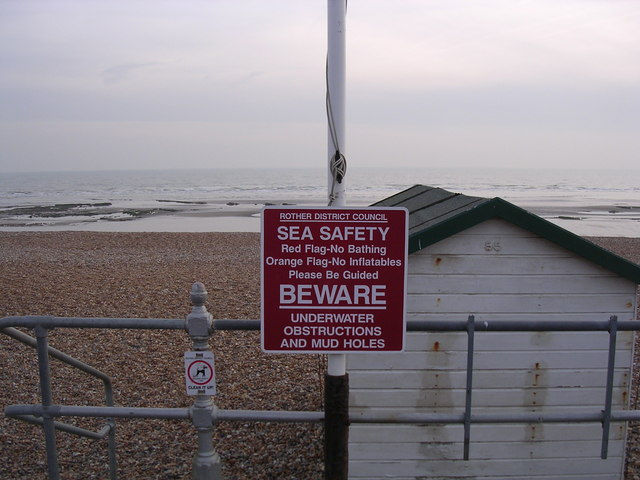 Warning Notice, Bexhill-on-Sea