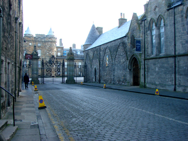 Entrance to Holyrood Palace from the Royal Mile