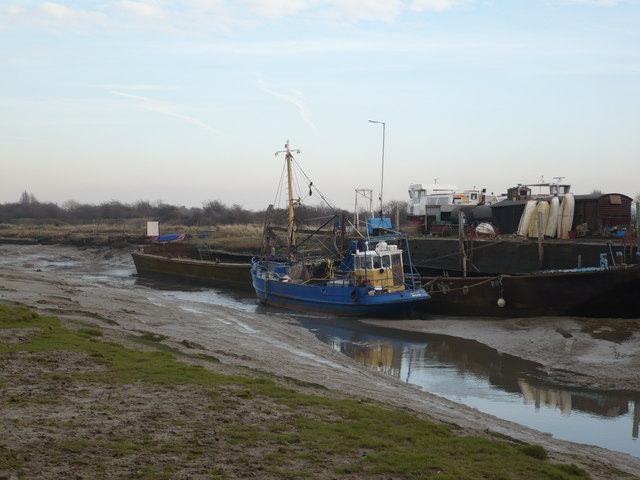 Fishing boat on Faversham creek