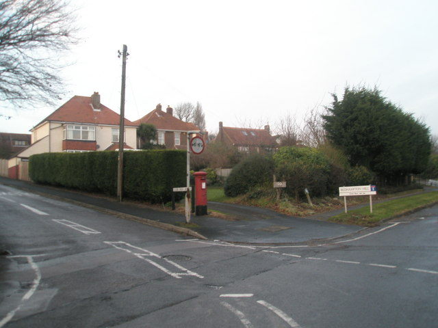 Junction of Glebe Park Avenue and Bedhampton Hill