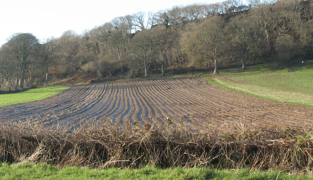 Ploughed field at Castellmarch