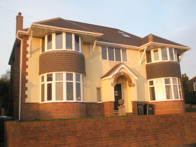 Newly built house in keeping with surroundings