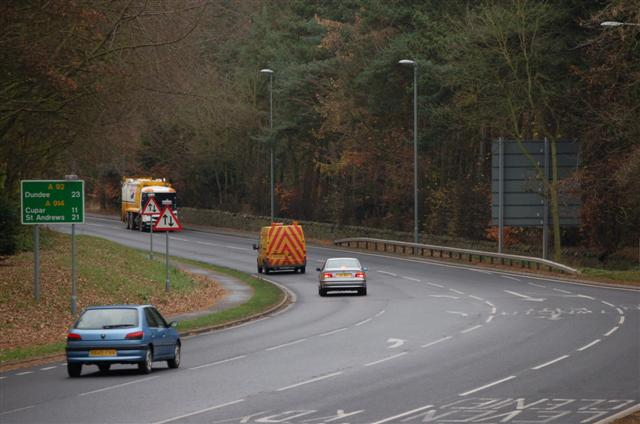 The A92 at Glenrothes
