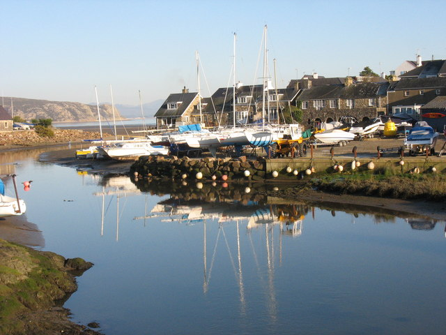 Abersoch Harbour four days before Christmas
