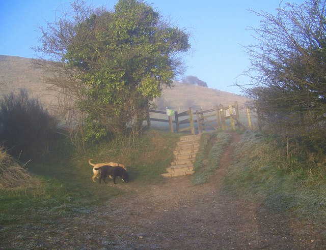 Entrance to Cley Hill Enclosure