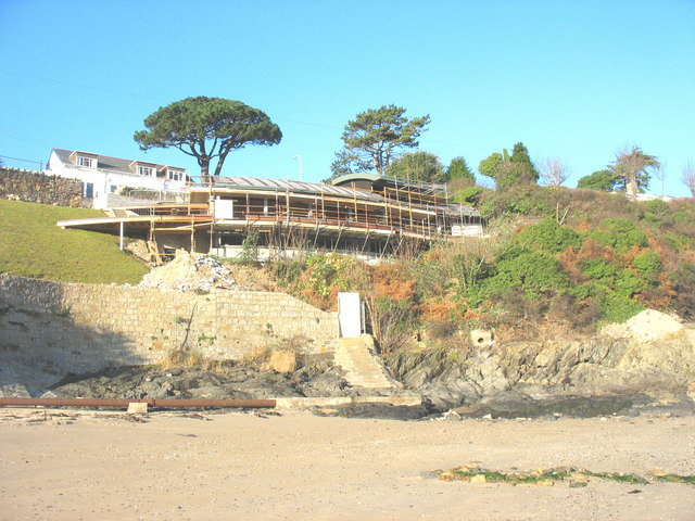 A new cliff top house under construction