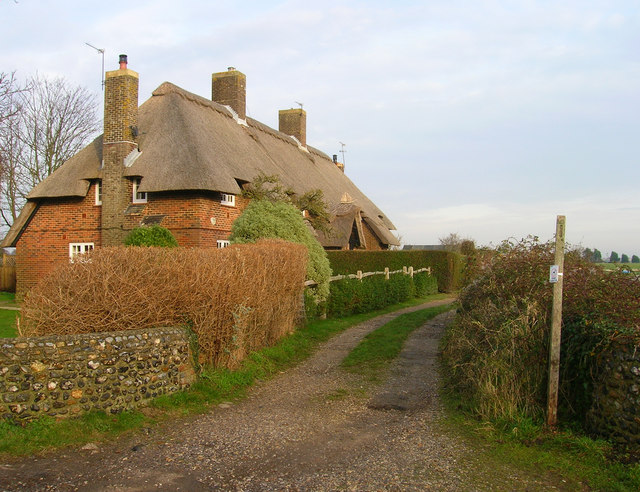 Modern Thatched Cottages, Climping