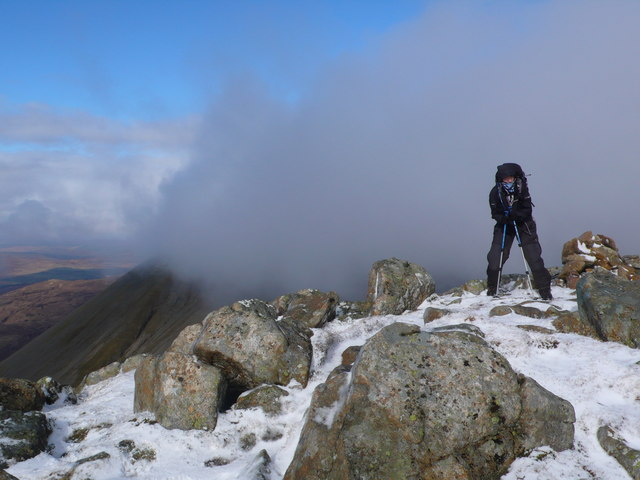 Summit of BeinnDearg Mhor