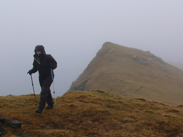 Approaching summit of Ben Tianavaig