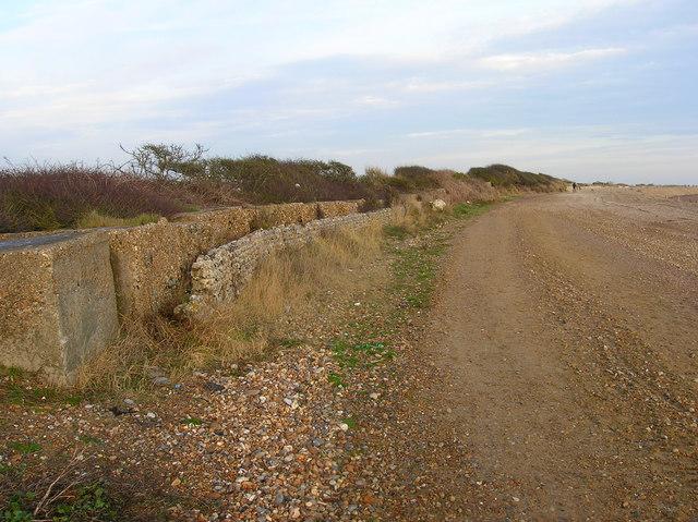 World War Two Beach Defences near Elmer