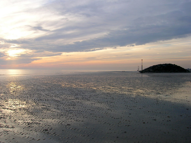 Elmer Beach at Low Tide