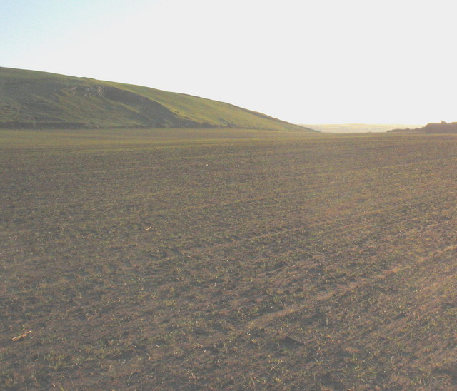 An extensive ploughed field south of Llanengan village