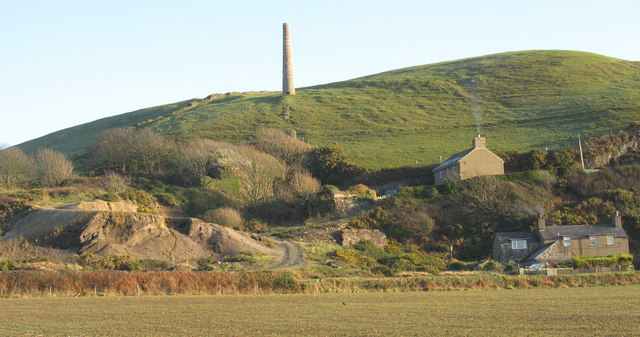 The old Tanrallt lead mines south of Llanengan