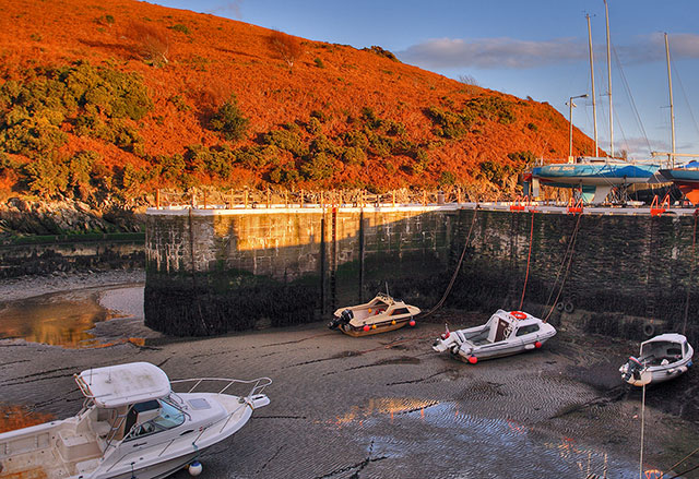 Winter evening at Laxey Harbour