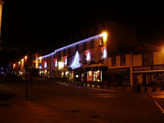 Christmas lights, Skiddaw Hotel, Keswick