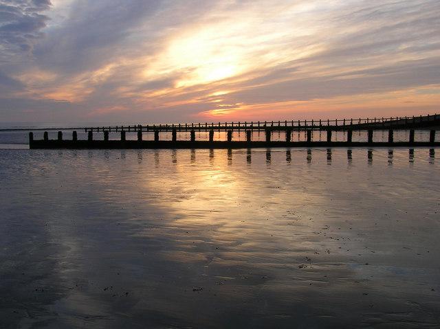 Atherington Beach at Sunset