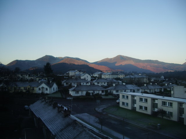 View from a room in the Skiddaw Hotel, Keswick