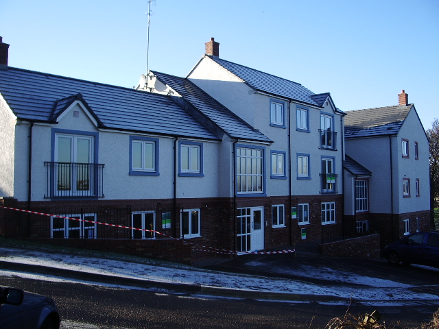 New housing on the site of the old Workington Hospital