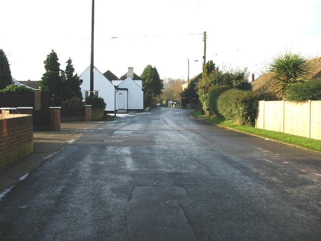 View along Napchester Road, Whitfield