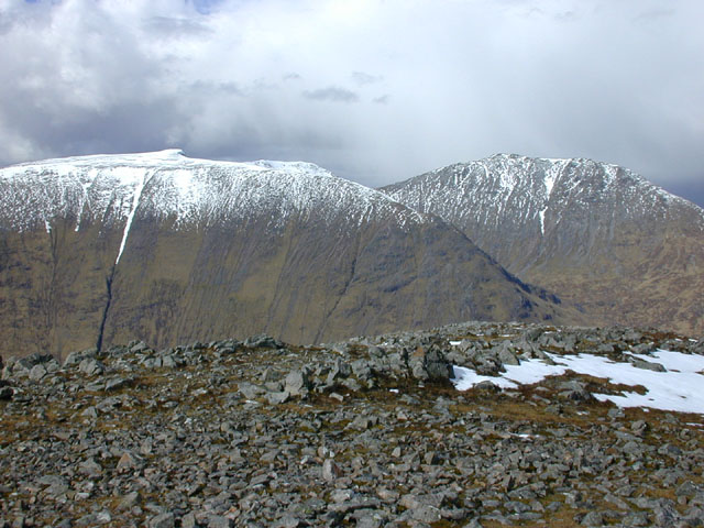 View north from Stob a' Choire Odhair