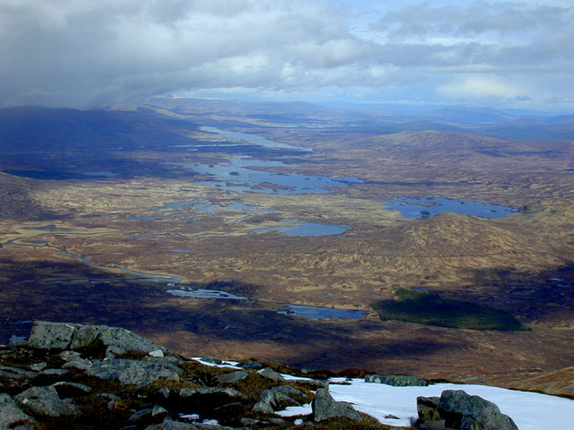 View northeast from Stob a' Choire Odhair
