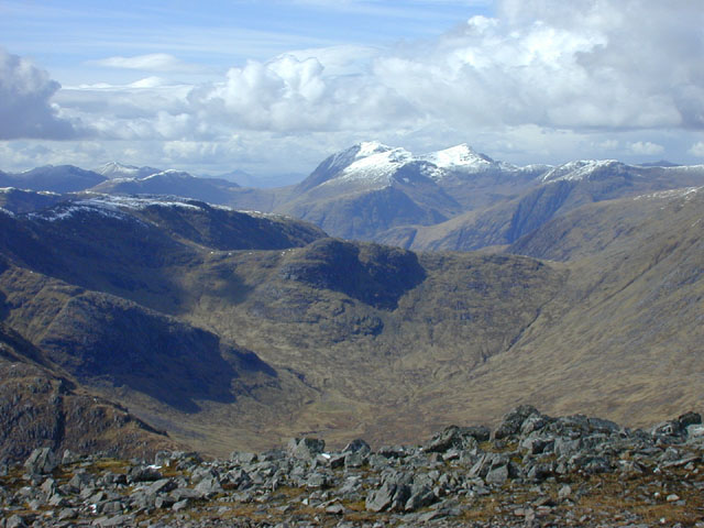 View northwest from Stob a' Choire Odhair