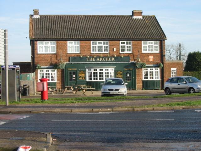 The Archer pub, Whitfield