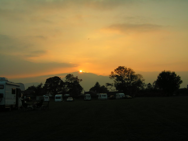 West across Castlerigg campsite