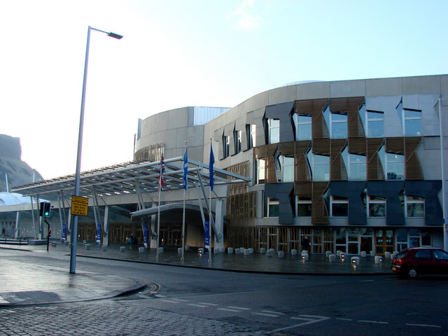 Frontage of The Scottish Parliament Building