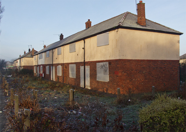 Boarded-up houses, Preston Road, Hull