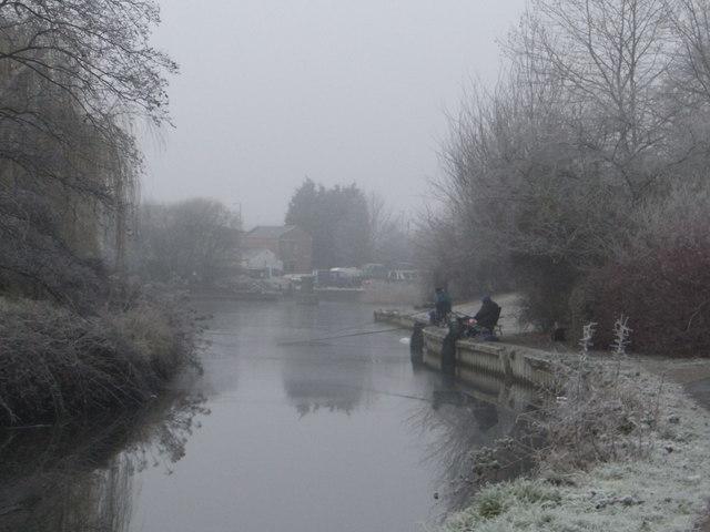 Frosty fishermen
