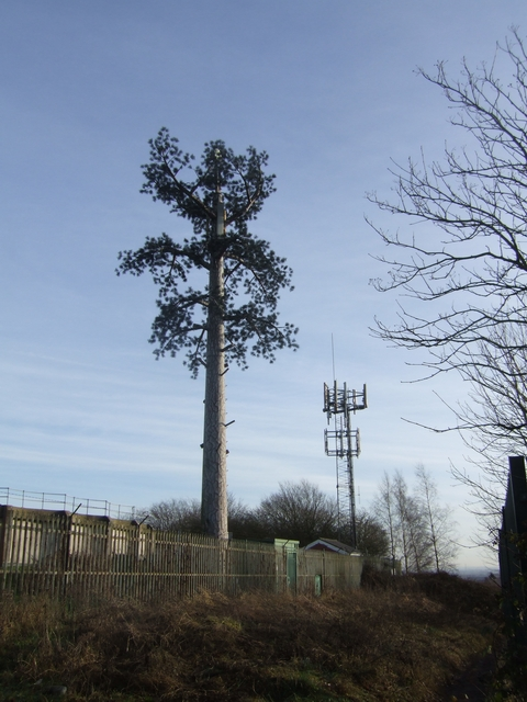 Telecoms masts on Bushbury Hill