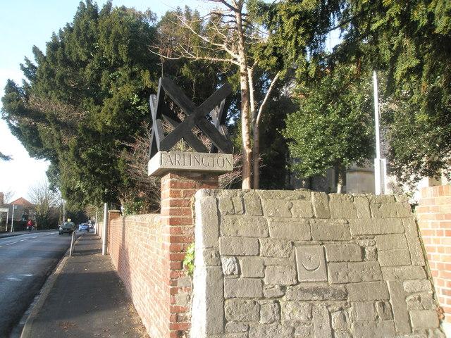 St Andrew's Cross on Church Gatepost