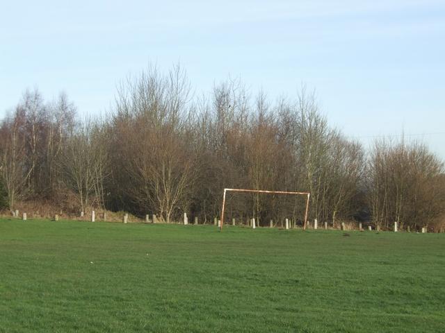 Goalposts on Bushbury Hill